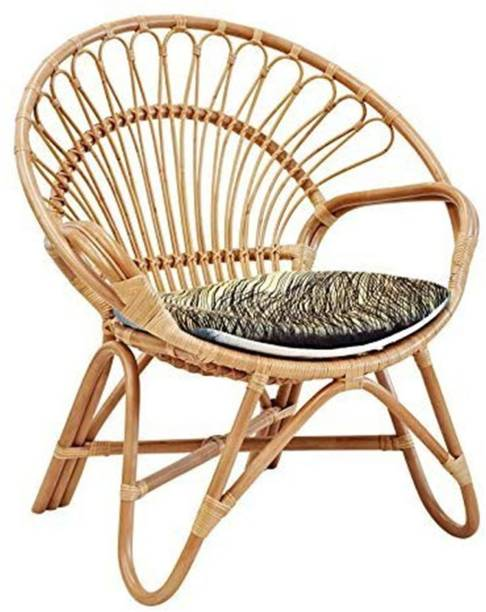 IRA Garden Cane Cusioned Chair With Cushion Cane Outdoor Chair