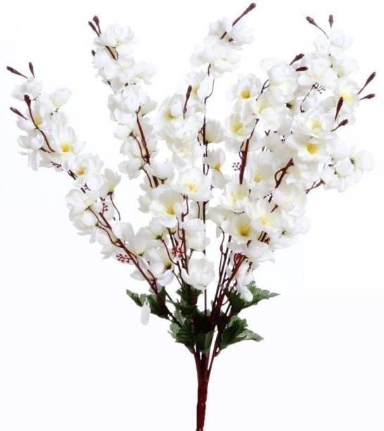 FLORID White Peach Blossom Artificial Flower