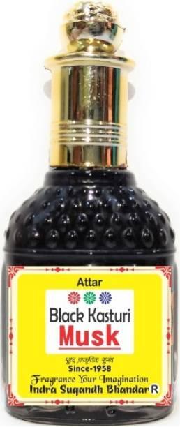 INDRA SUGANDH Black Kasturi Extract of Kasturi Dana Real Black Musk Attar Herbal Attar