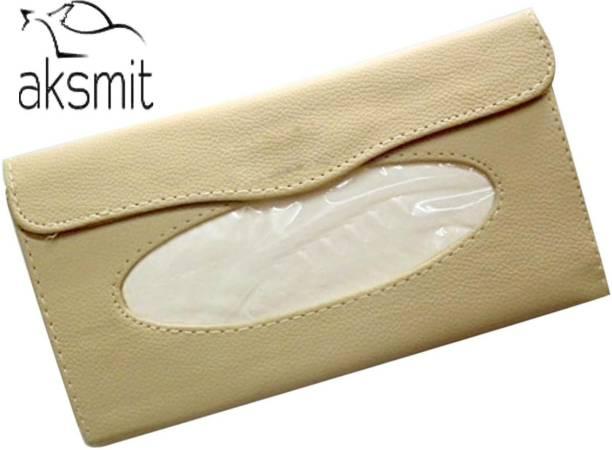 aksmit Luxury PU Leather Tissue Box Vehicle Tissue Dispenser
