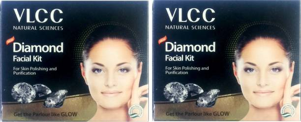 VLCC New Diamond Facial Kit for Skin Polishing and Purification 2 units
