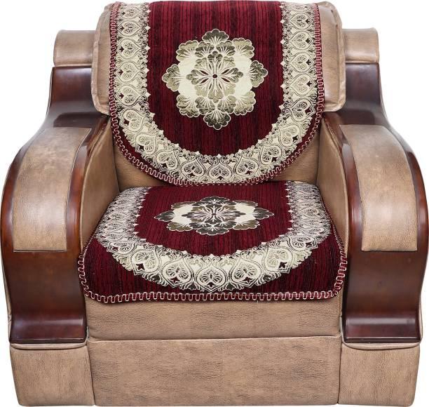 S N TRADERS Velvet, Cotton Sofa Cover
