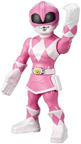 Power Rangers Playskool Heroes Mega Mighties Mighty Morphin Pink Ranger 10-inch Figure, Kids Ages 3 & Up