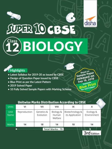 Super 10 CBSE Class 12 Biology 2020 Exam Sample Papers 2nd Edition