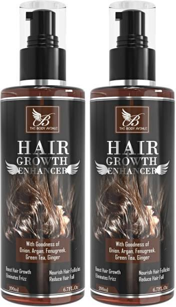 The Body Avenue Hair Growth Enhancer Oil with Bhringraj, Argan, Onion, Green Tea, Ginger, Fenugreek, Brahmi Hair Oil