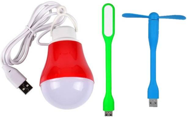 SHOPONIX USB Light+Fan+Bulb SPNX-Pack Of 1 USB Wire Bulb Light Fan USB Fan, Led Light