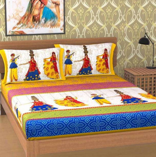 DIVIK CRAFTS Cotton Queen Bed Spread