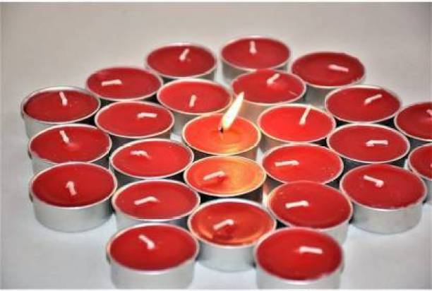 Flipkart SmartBuy Red Tealight pure paraffin candle Candle