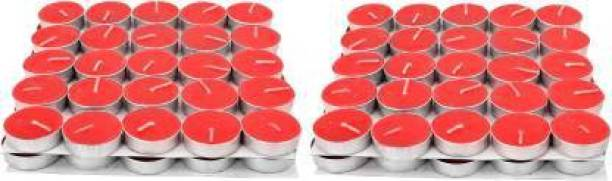 Flipkart SmartBuy Red Tealight pure paraffin candle aprox 2 hr burn time 100 pc Candle