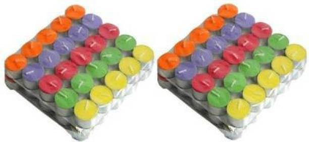 Flipkart SmartBuy Multi Color Tealight pure paraffin candle aprox 2 hr burn time 100 pc Candle