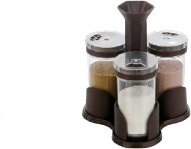 PRAMUKH Brown Achar & Salt Pepper 1 Piece Spice Set