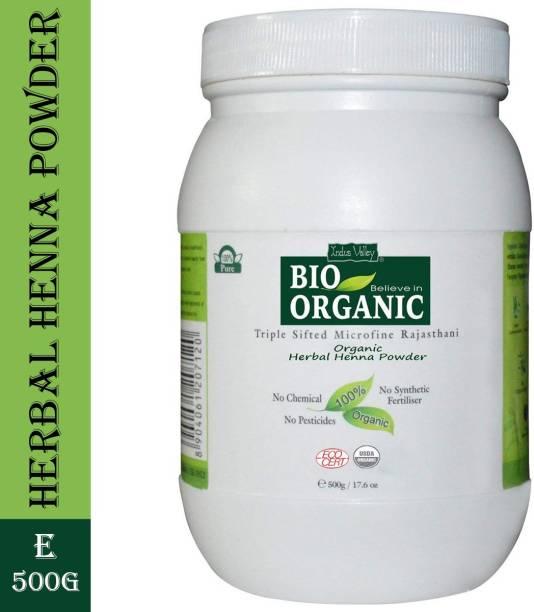 Indus Valley Bio Organic Herbal Henna Powder - Bulk Pack