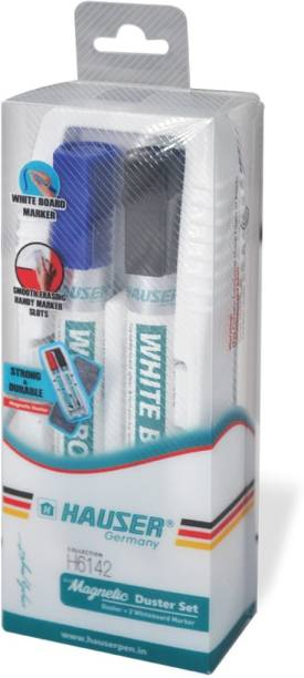HAUSER Whiteboard Markers + Duster Set