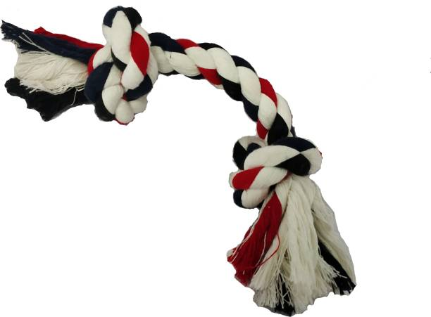 mosiko Cotton Rope Chew 2 Knots Toy Cotton Chew Toy, Tough Toy, Tug Toy, Soft Toy For Dog