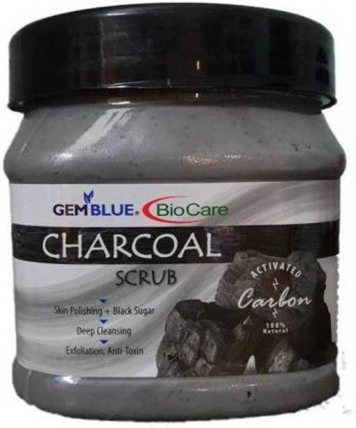 BIOCARE Charcoal Face& Body Scrub Cream Scrub (500 g) Scrub