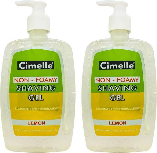 Cimelle Shaving Gel Lemon, Pack of 2