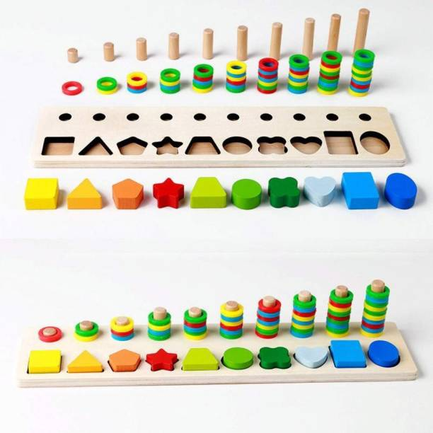 Bestie Toys Shape Pairing Early Childhood Education Math Wooden Toys