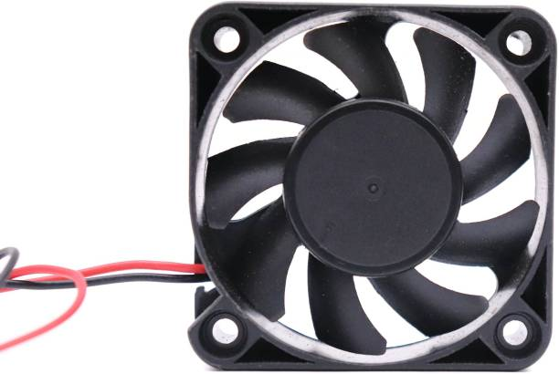 Electronicspices DC 12V 2'' INCH Cooling Fan for PC Case, CPU Cooler Radiator 20 x 20 x 11 (Black) Cooler