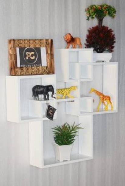 Aaliya mart attach 4 wall shelf Solid Wood Display Unit