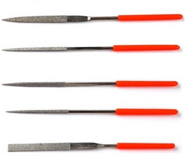 PagKis 5 Pieces Diamond Needle File Set for Metal, Glass, Stone, Jewelery Knife Sharpening Steel