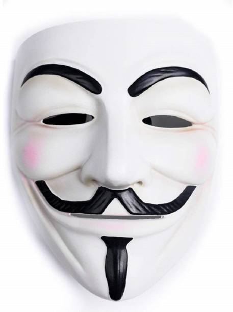 Dany Internationals V for Vendetta Comic Face Anonymous Gift Set Party Mask (White, Pack of 1) Party Mask