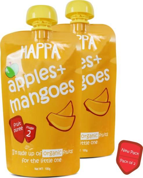 Happa Organic Apple&Mango Fruit Puree Baby food Cereal