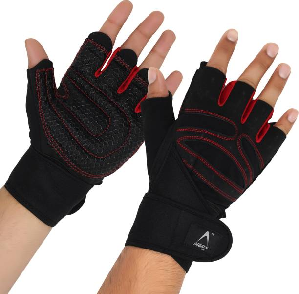 ArrowMax SPIDER GEL GLOVES WITH EXTRA HOLD AND WRIST SUPPORT Gym & Fitness Gloves