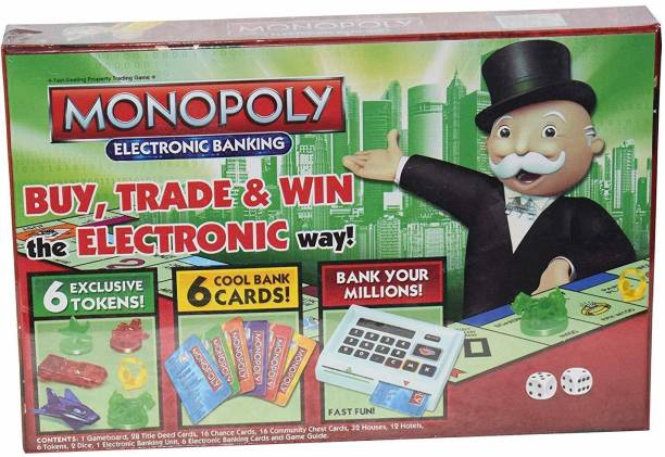 Mixen Monopoly Electronic Banking Board Game, for 6+ Years Kids, for 2-6 Players Board Game Accessories Board Game