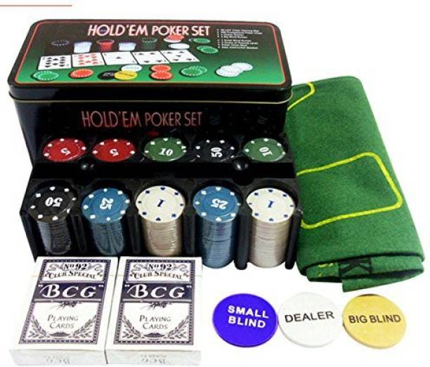 divinezon Texas-Hold Em-Up-Poker-Set-Casino