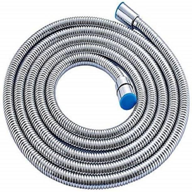 Oleanna Showertube-150cm Stainless Steel Flexible Grade Showertube (1.5 Meter, Silver, Chrome Finish) Hose Connector