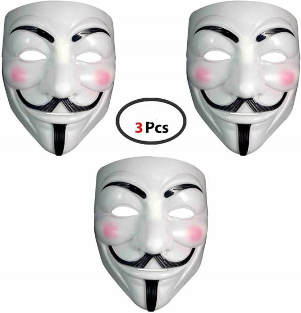 Charismacart Vendetta Comic Face Anonymous (White) Gift Set Party Mask