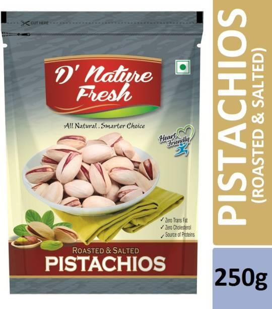 D NATURE FRESH Roasted & Salted Pistachios 250g Pistachios