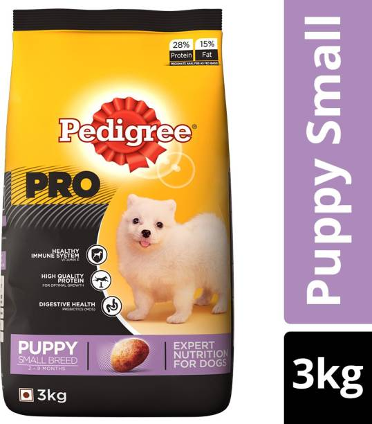 PEDIGREE PRO Expert Nutrition for Small Breed Puppy (2-9 months) 3 kg Dry Young, New Born Dog Food