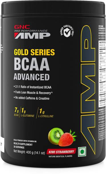 GNC AMP Gold Series BCAA Advanced- Vitamin B6, 7g BCAA, L-Glutamine & L-Citrulline BCAA