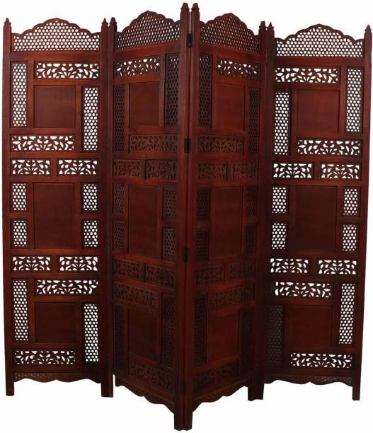 Artesia 4 Panel Wooden Room Partition/Screen Divider Solid Wood Decorative Screen Partition
