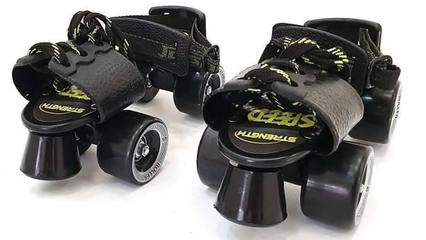 Jaspo Adjustable Roller Skates Suitable for Age Group 6 to 14 Years Quad Roller Skates - Size 6 UK