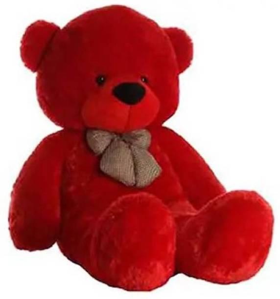 Myyza Soft Oozy Red Teddy Bear 90 CM, 1 pc  - 90 cm