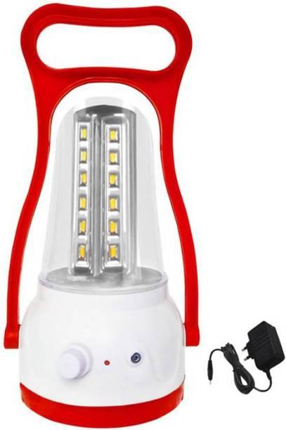 Eye Bhaskar 24 Watt Super Bright LED Rechargeable Red Plastic Table Lantern