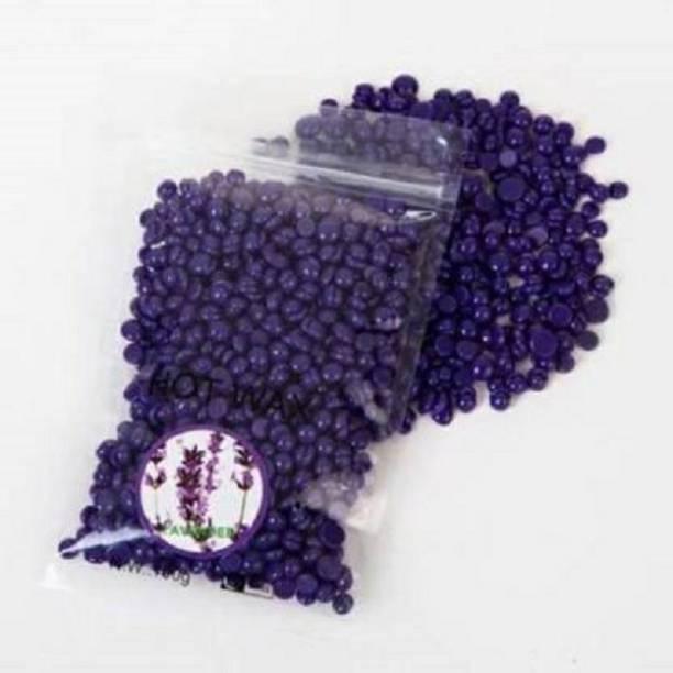 MD Retail Hair Removal Hard Body Wax Beans for Facial Arm, Legs - 250 G- Lavender Wax