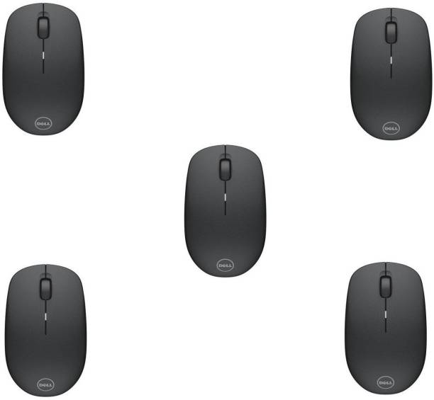 DELL WM126 Wireless Optical Mouse (USB, Black) (Pack of 5) Wireless Optical Mouse