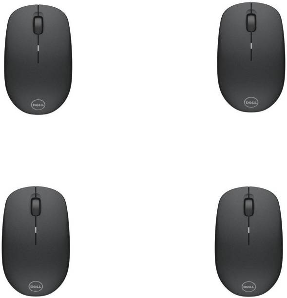 DELL WM126 Wireless Optical Mouse (USB, Black) (Pack of 4) Wireless Optical Mouse