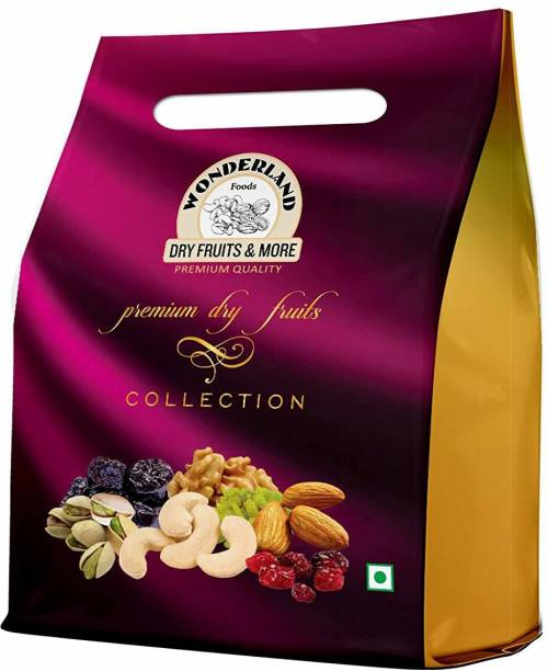 WONDERLAND Foods Dry Fruits Gifts Hampers Collection Pack Cashews, Almonds, Raisins