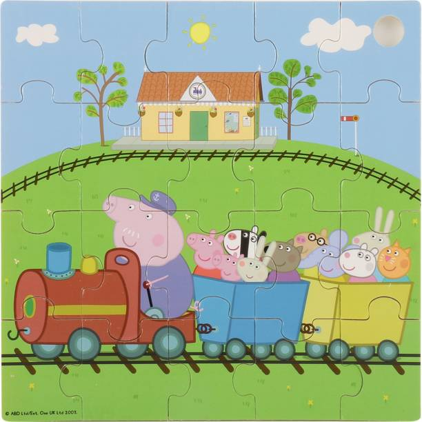 SIMBA Peppa Pig Train Jigshaw Eichhorn wooden Puzzles