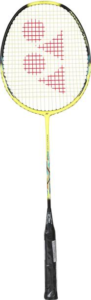 Yonex Nanoflare Drive Yellow Black Strung Badminton Racquet (with Sonic Flare System Tension: 28 Lbs)