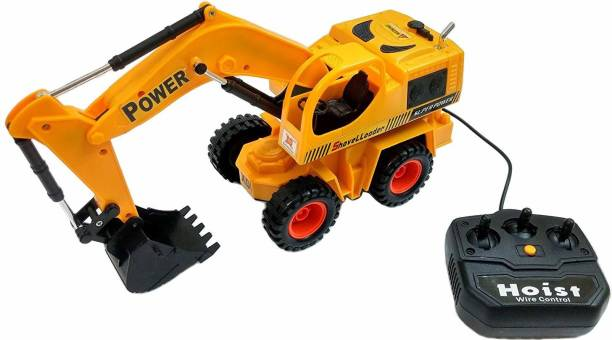 SQUIDSY JCB Excavator Construction Shovel Loader Toy , Wire Remote Controler Construction Truck Vehicle for Kids