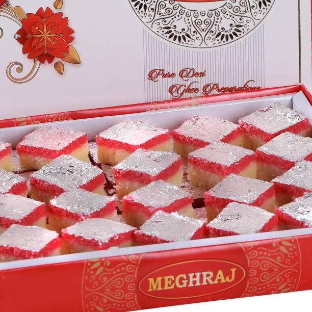Meghraj Food Court Desi Ghee Coconut Burfi Festive Gift Box