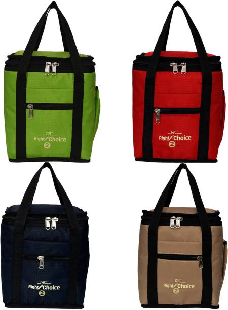 RIGHT CHOICE Combo 4 Lunch Tiffin Bags School Kida and Lunch Bag