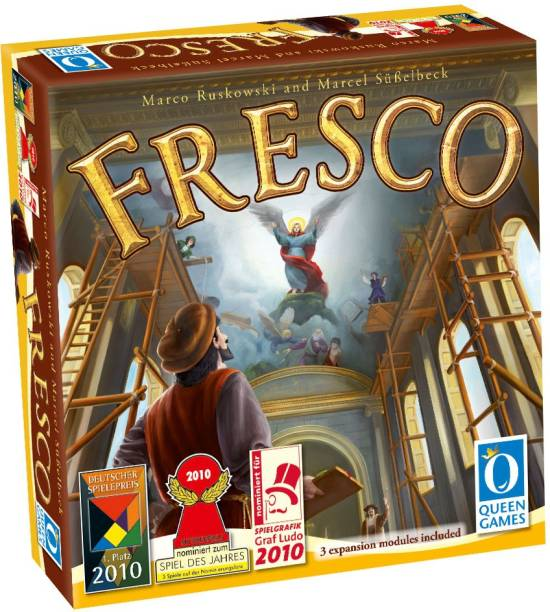 Queen Games Fresco Party & Fun Games Board Game