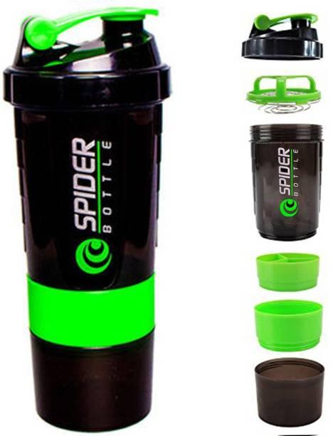 Quinergys ® Spider Protein Shaker Bottle for Gym - 500ml - Green 600 ml Shaker