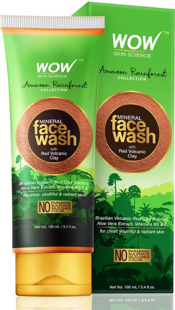 WOW SKIN SCIENCE Rainforest Collection - Mineral  with Red Volcanic Clay Face Wash